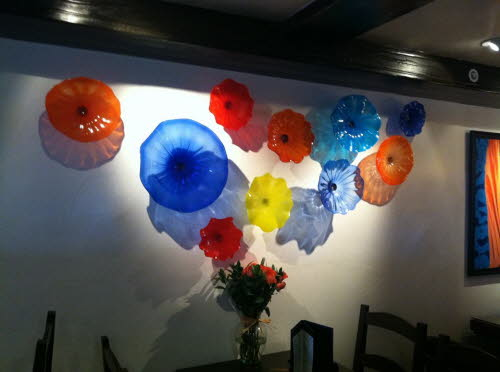 Maggies Blue Rose Catalina Island Restaurant Decore