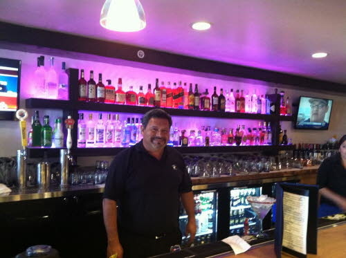 Pedro at the Bar at Maggie's Blue Rose Catalina Island's Best Mexican Restaurant