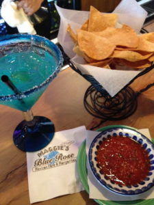 Margaritas and Chips and Salsa at Maggie's Blue Rose Restaurant Catalina Island