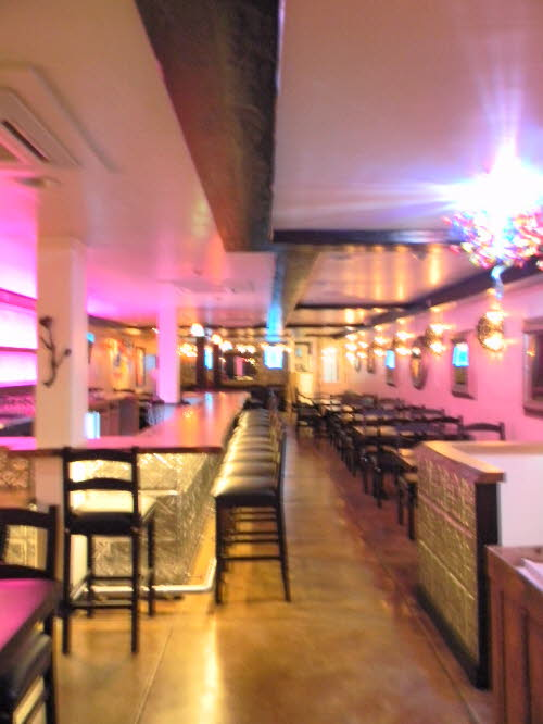 The lights are on so come on in to  Maggie;s Blue Rose Reataurant Catalina