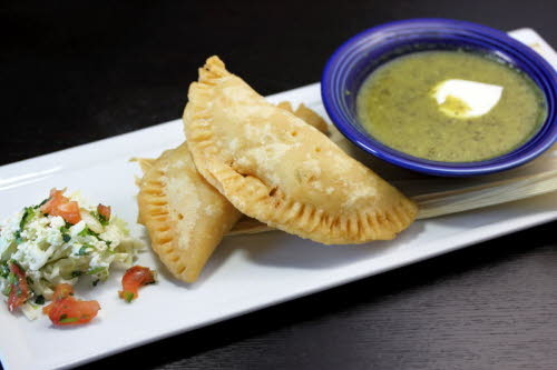 Empanadas at Maggies Blue Rose Restaurant on Catalina Island