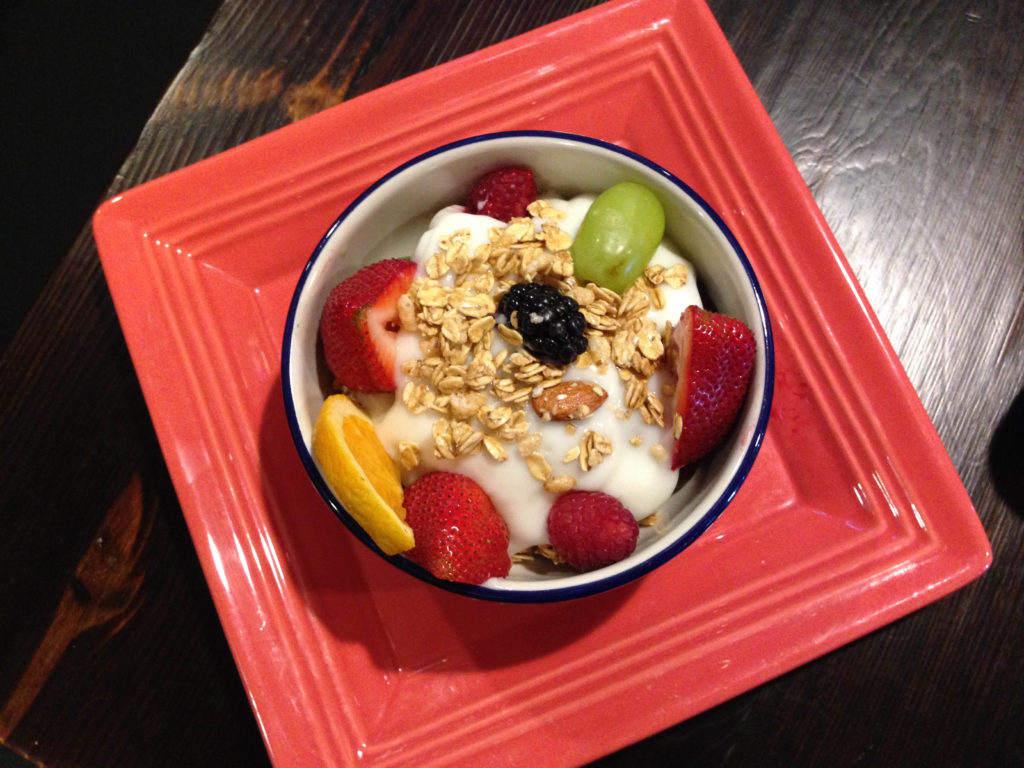 Yougart, Fruit and Granola Plate Breakfast